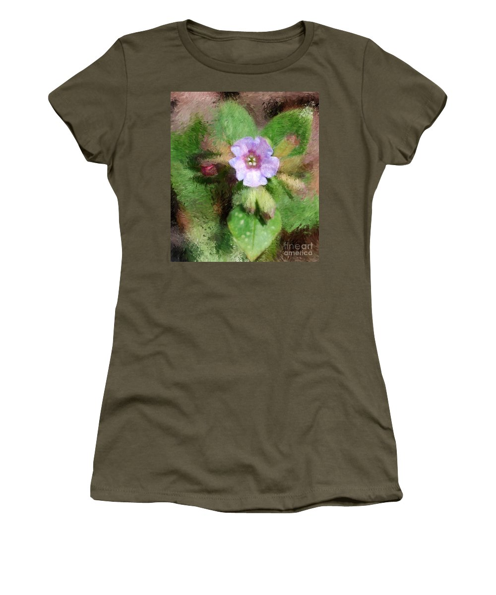Digital Photo Women's T-Shirt (Athletic Fit) featuring the photograph Untitled Floral -1 by David Lane