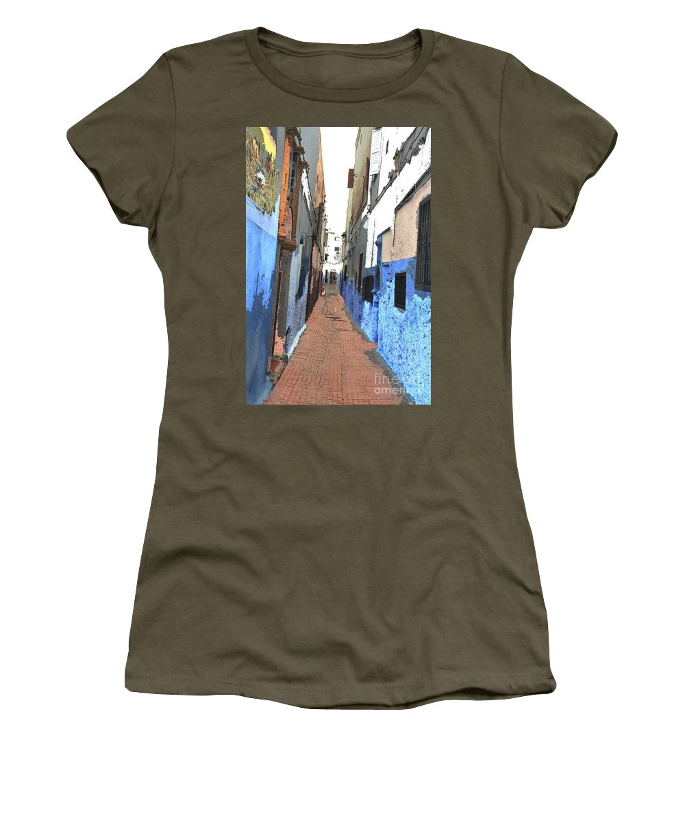 Urban Women's T-Shirt (Athletic Fit) featuring the photograph Urban Scene by Hana Shalom