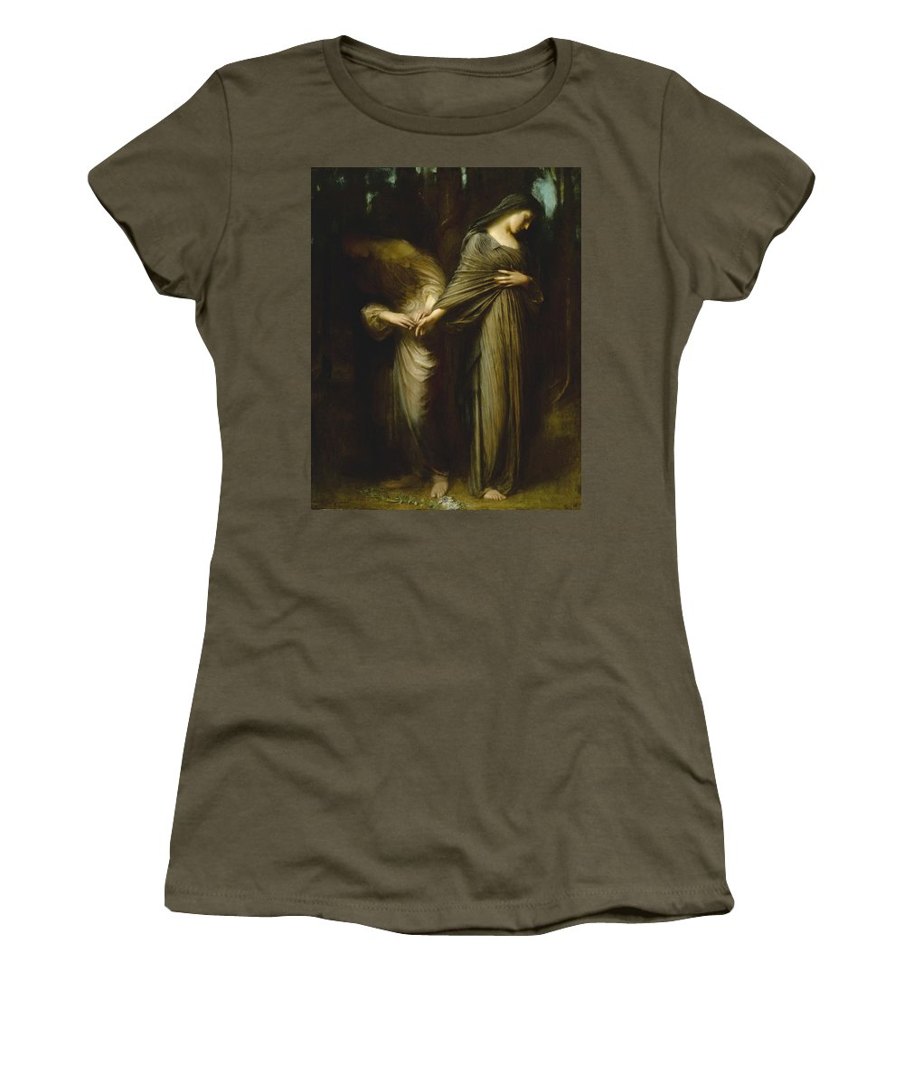 Arthur Hacker Women's T-Shirt (Athletic Fit) featuring the painting Vale. Farewell by Arthur Hacker