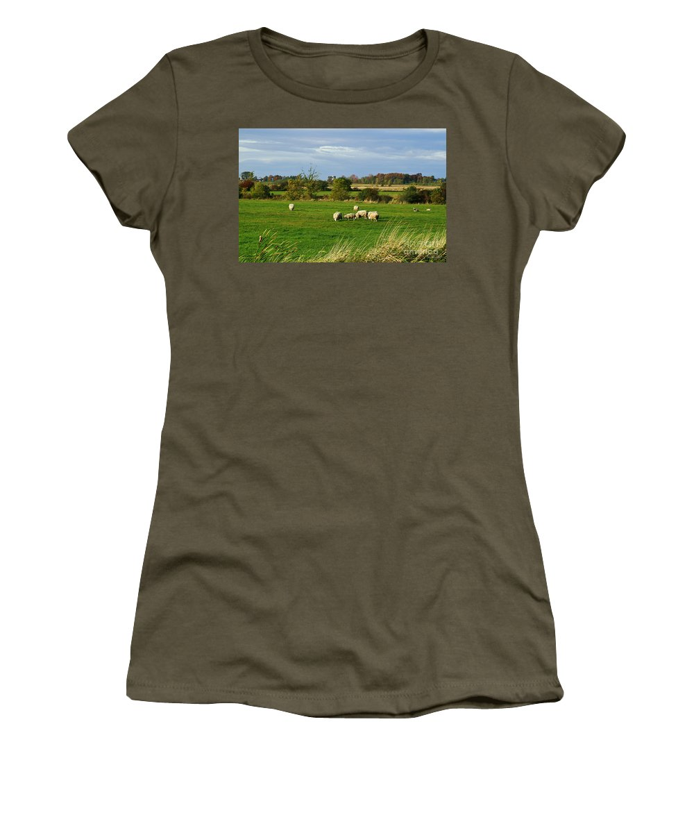 Rural Women's T-Shirt (Athletic Fit) featuring the photograph Vermont Country Life by Deborah Benoit