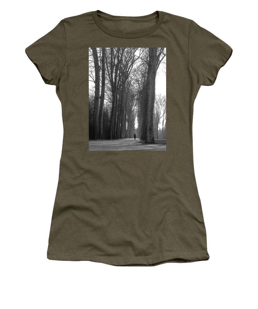 Landscape Women's T-Shirt featuring the photograph Versailles Trees by Thomas Morris
