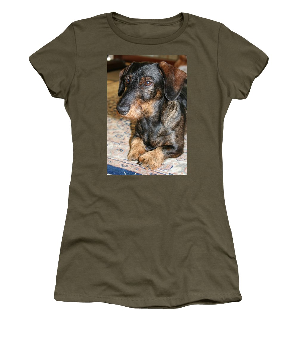 Dog Women's T-Shirt (Athletic Fit) featuring the photograph Victor by Christiane Schulze Art And Photography
