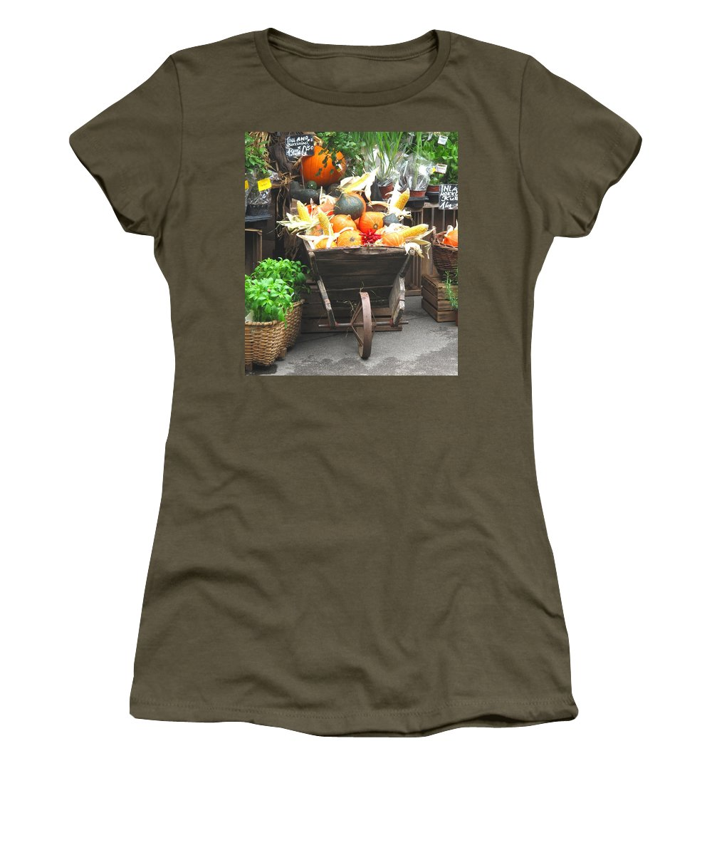 Vienna Women's T-Shirt (Athletic Fit) featuring the photograph Vienna New Market by Ian MacDonald