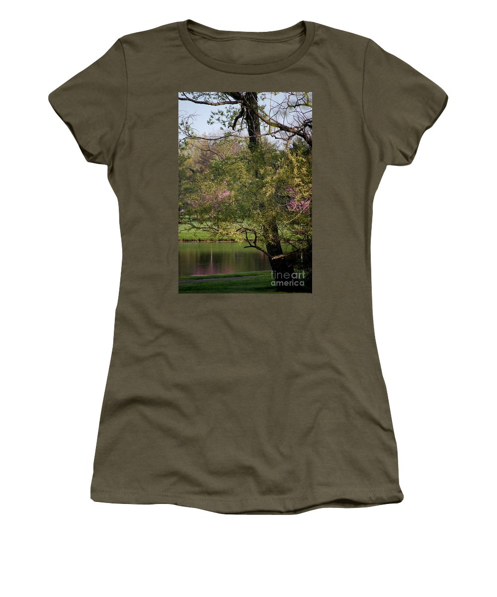 Landscape Women's T-Shirt (Athletic Fit) featuring the photograph View Out My Office Window. by David Lane