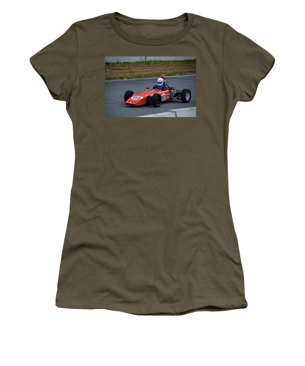 Motorsports Women's T-Shirt (Athletic Fit) featuring the photograph Vintage Lotus 61 by Mike Martin
