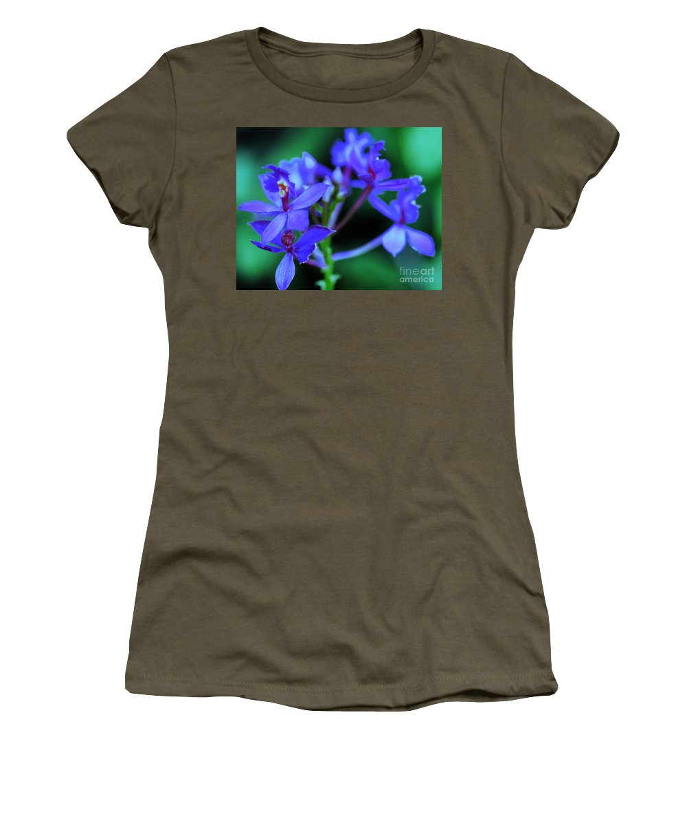 Orchid Women's T-Shirt featuring the photograph Violet Orchids by Kathleen Struckle