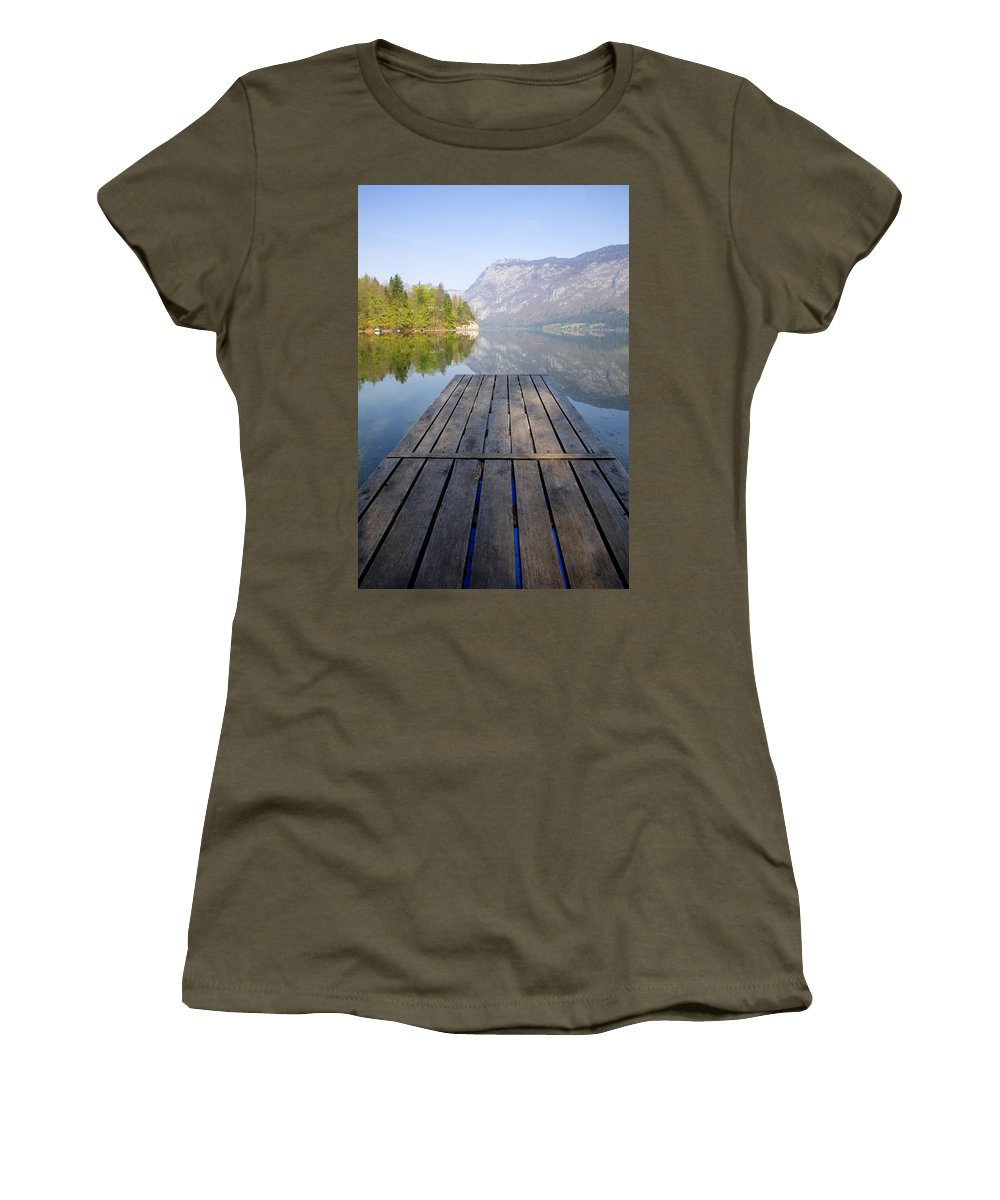 Bohinj Women's T-Shirt featuring the photograph Visions Of Bohinj by Ian Middleton