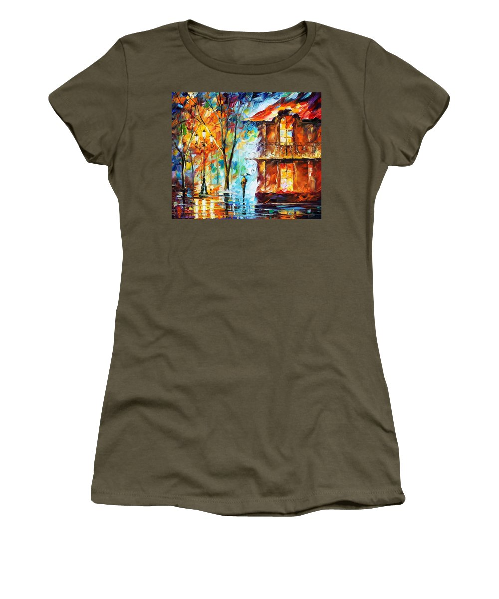 Afremov Women's T-Shirt (Athletic Fit) featuring the painting Vitebsk by Leonid Afremov