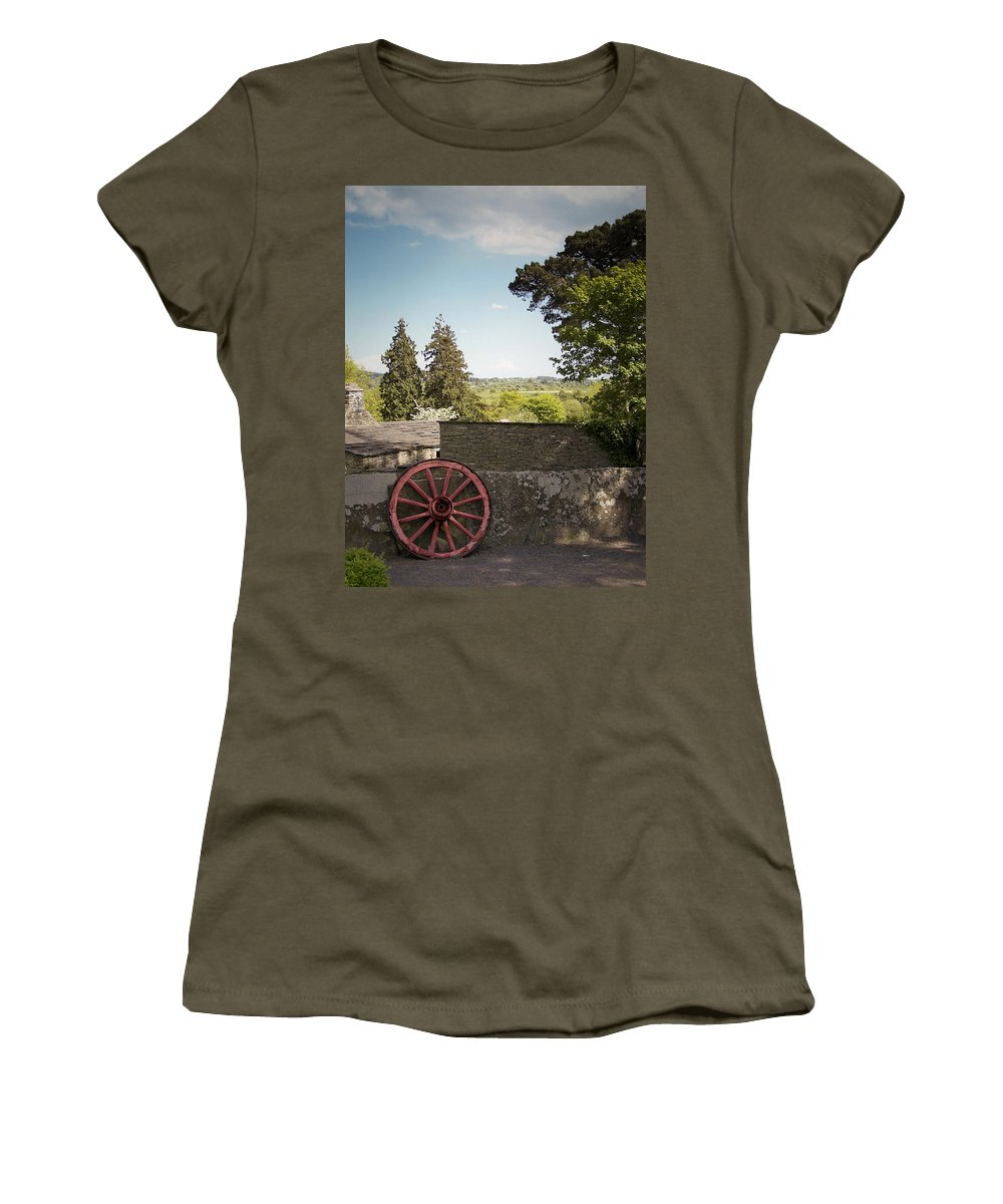 Irish Women's T-Shirt featuring the photograph Wagon Wheel County Clare Ireland by Teresa Mucha