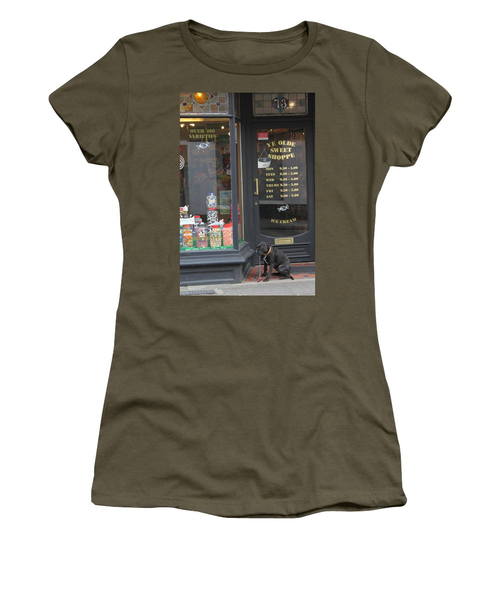 Candy Women's T-Shirt (Athletic Fit) featuring the photograph Waiting For Sweets by Lauri Novak