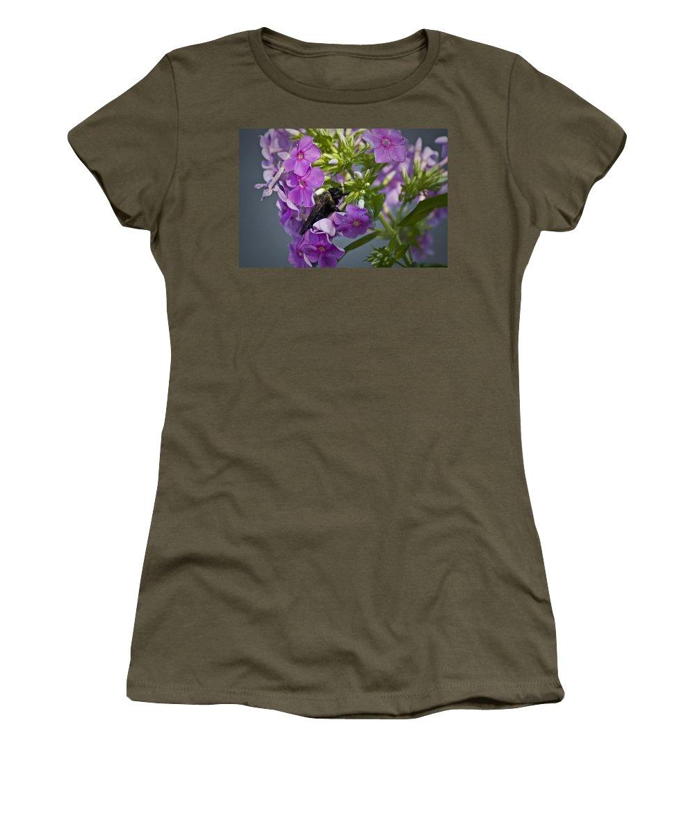 Bumblebee Women's T-Shirt featuring the photograph Wake Up Sleepyhead by Teresa Mucha