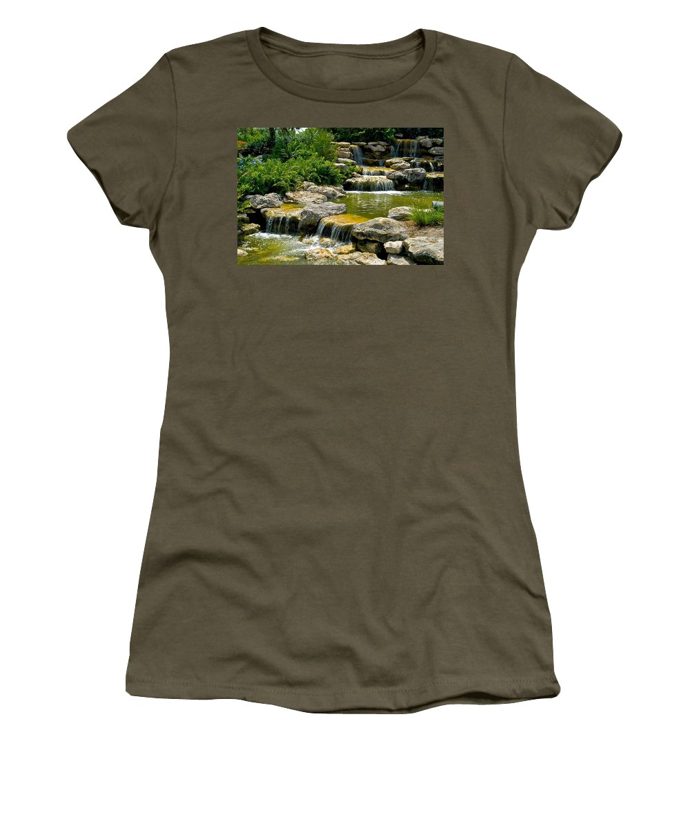 Florida Women's T-Shirt featuring the photograph Water Falls by Dale Chapel