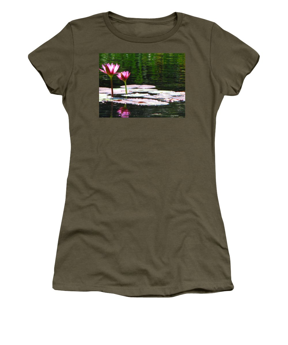 Patzer Women's T-Shirt (Athletic Fit) featuring the photograph Water Lily by Greg Patzer