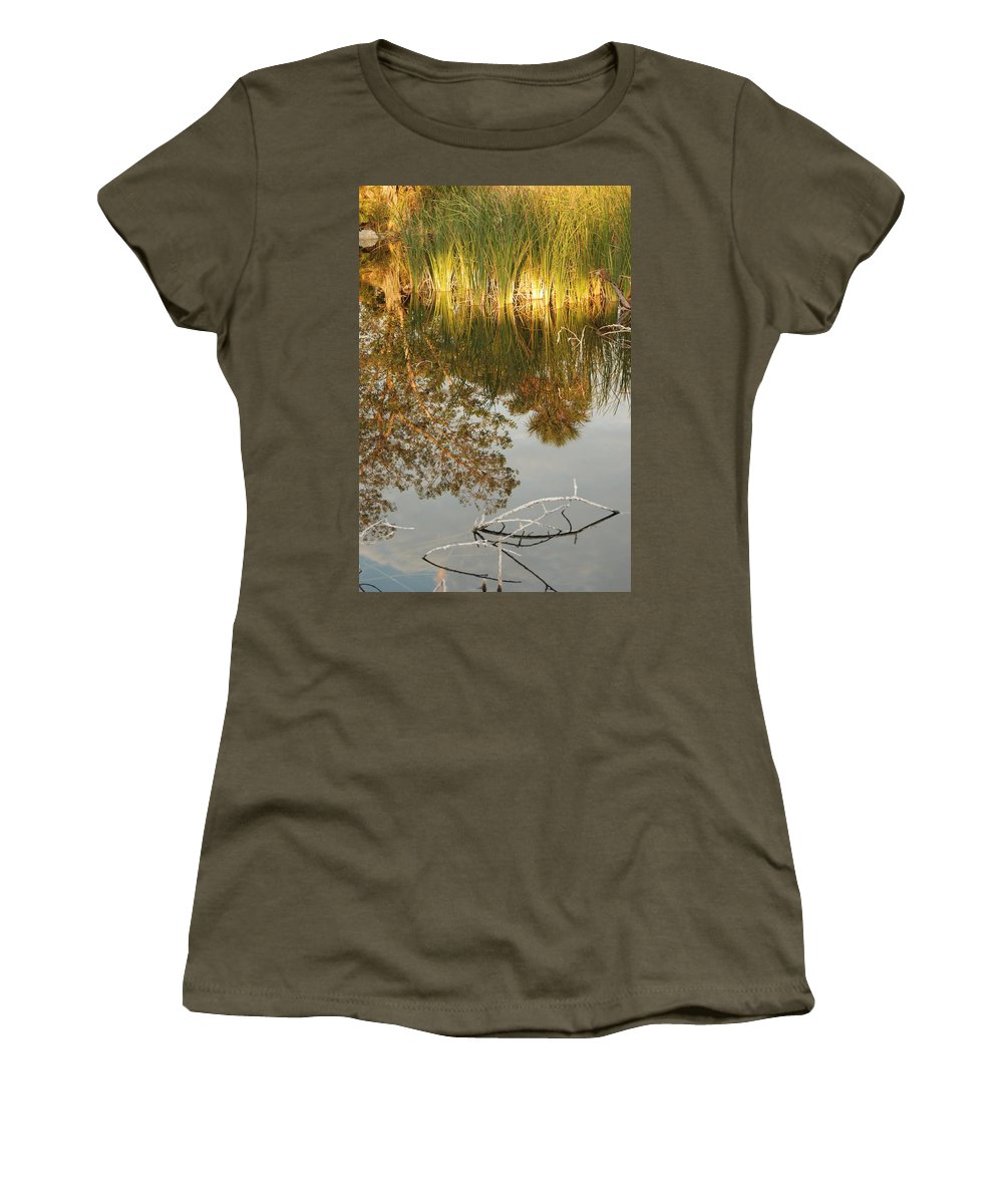 Wood Women's T-Shirt featuring the photograph Water Line by Rob Hans