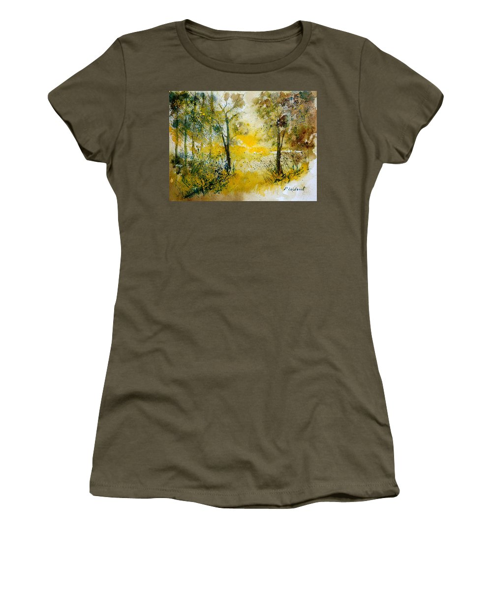 River Women's T-Shirt featuring the painting Watercolor 210108 by Pol Ledent