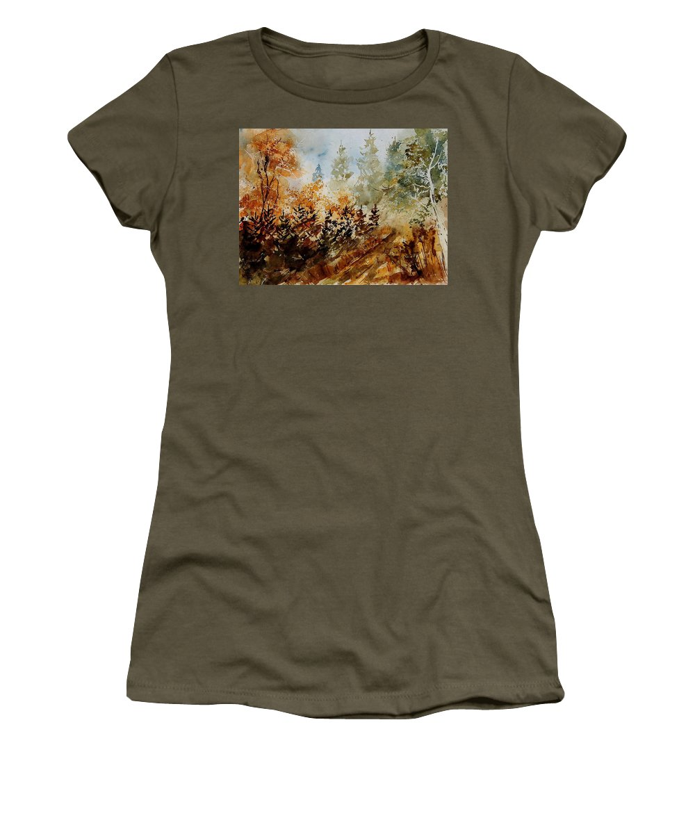 Tree Women's T-Shirt (Athletic Fit) featuring the painting Watercolor 250607 by Pol Ledent