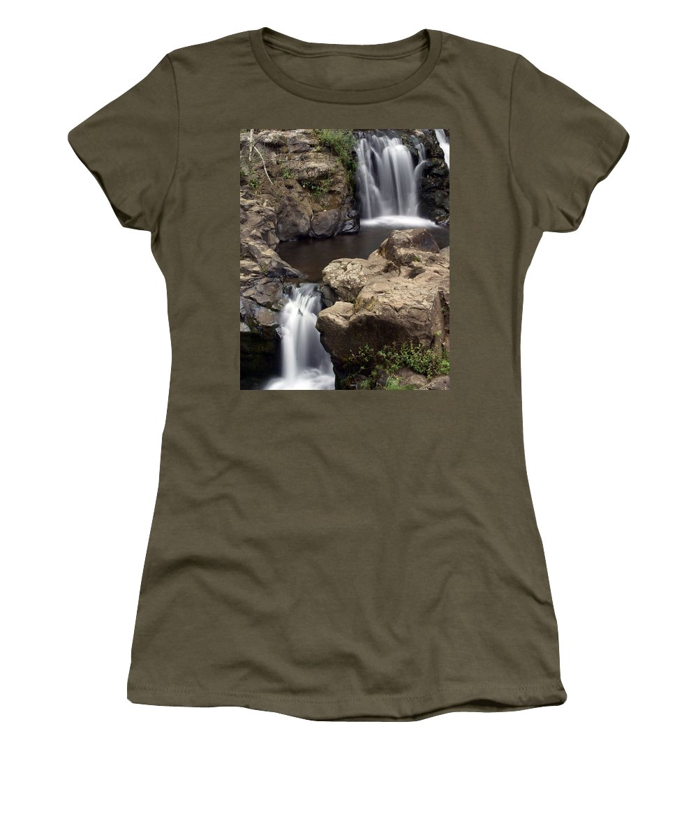 Waterfall Women's T-Shirt featuring the photograph Waterfall 54 by Marty Koch