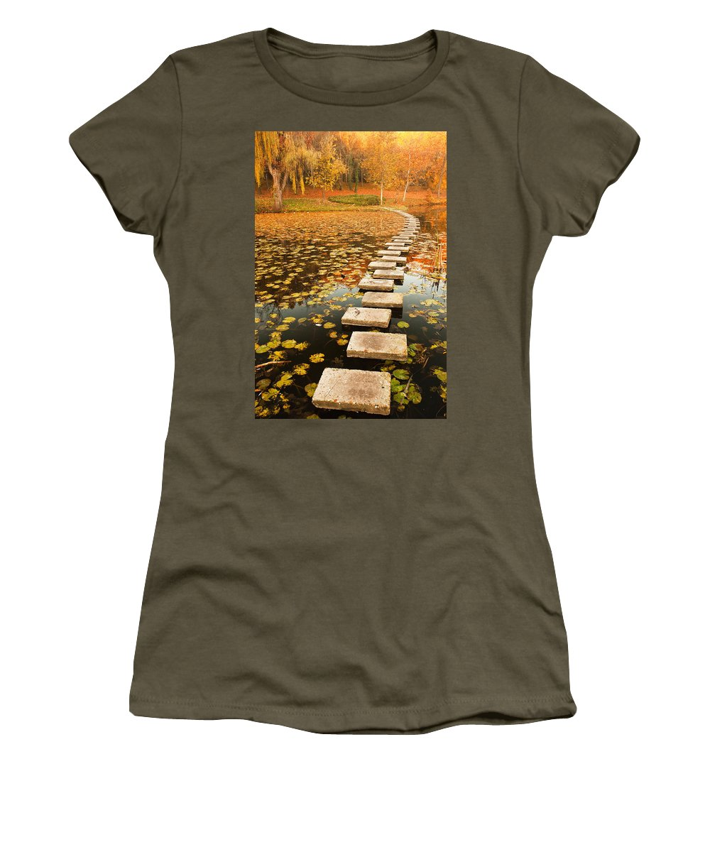 Lake Women's T-Shirt featuring the photograph Way In The Lake by Evgeni Dinev