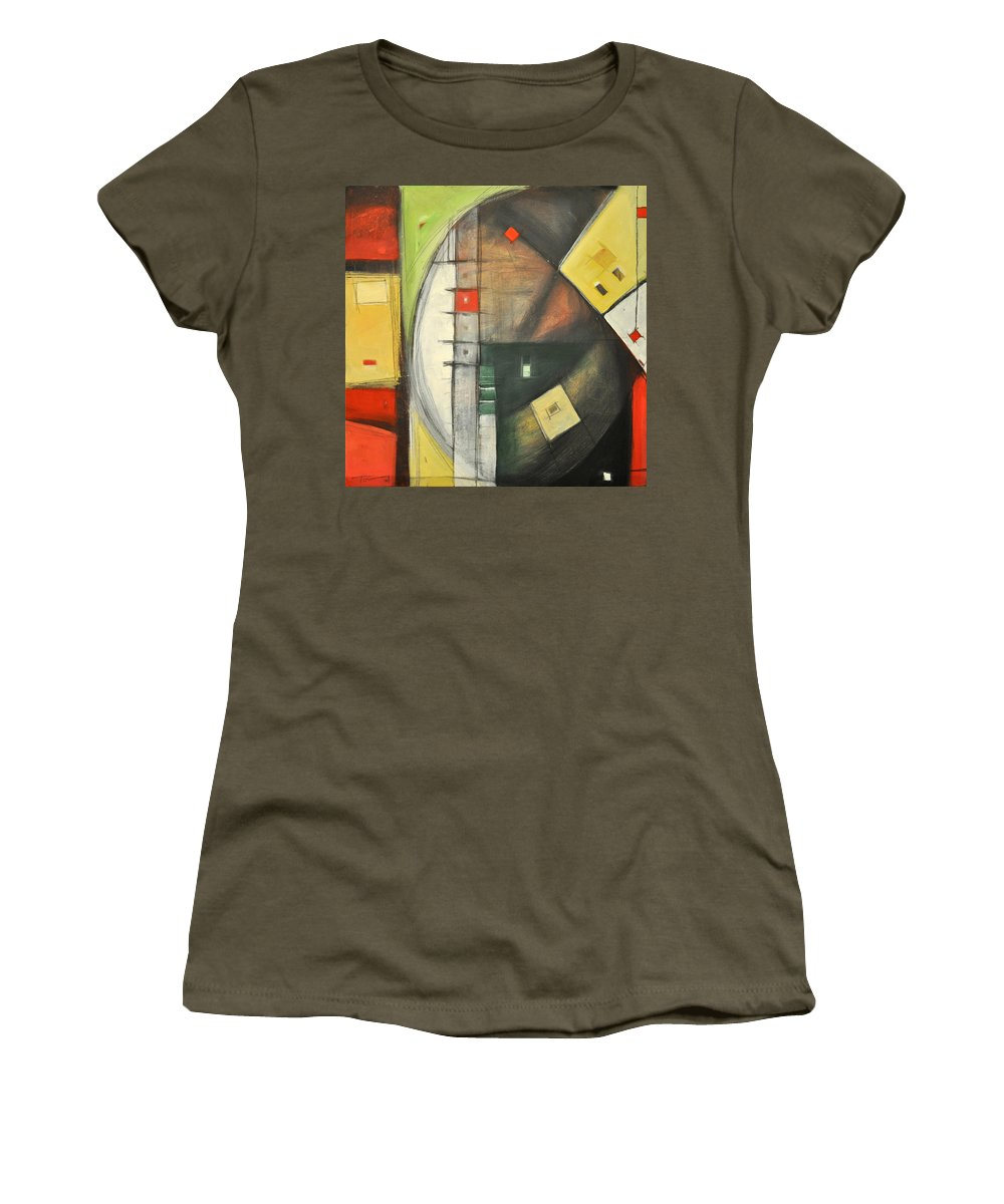 Abstract Women's T-Shirt (Athletic Fit) featuring the painting Way Out by Tim Nyberg