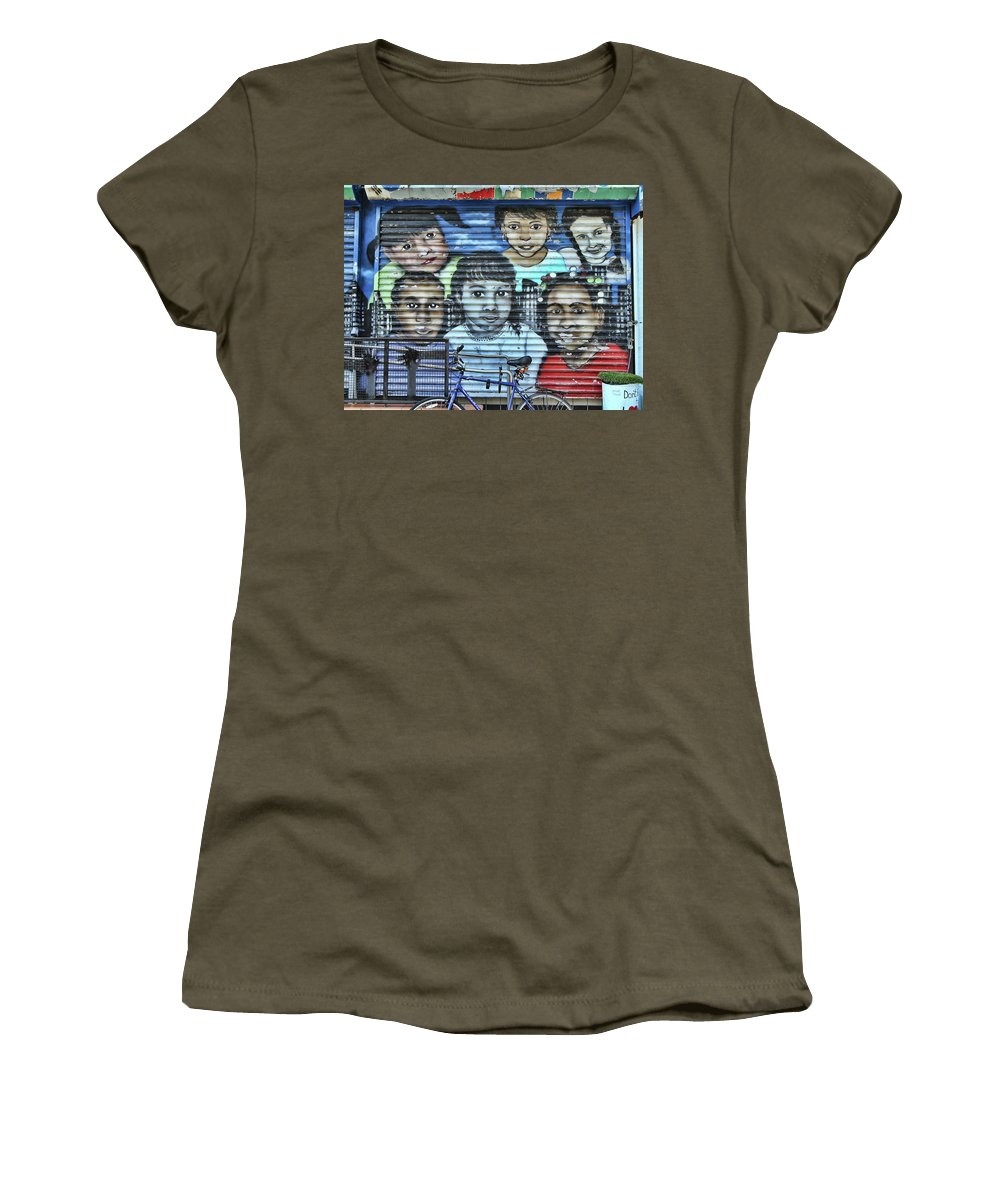 Graffiti Women's T-Shirt featuring the photograph We Are The World by Allen Beatty