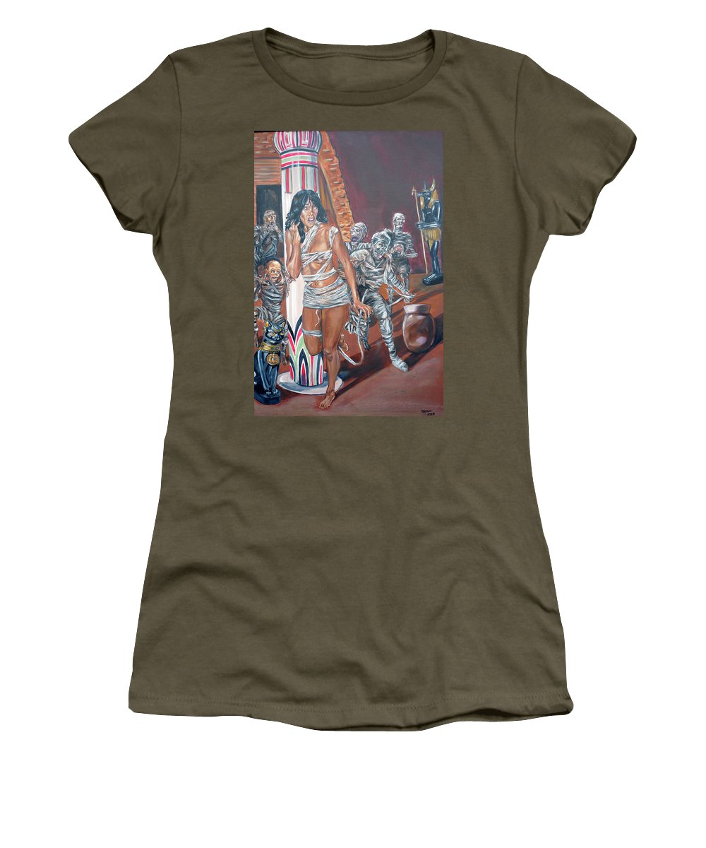Egypt Women's T-Shirt (Athletic Fit) featuring the painting Well Preserved by Bryan Bustard