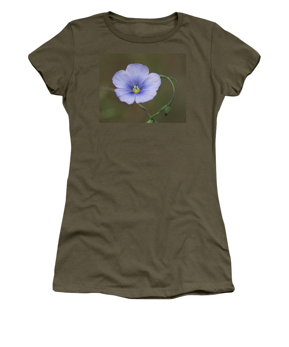 Nature Women's T-Shirt featuring the photograph Western Blue Flax by Ben Upham III