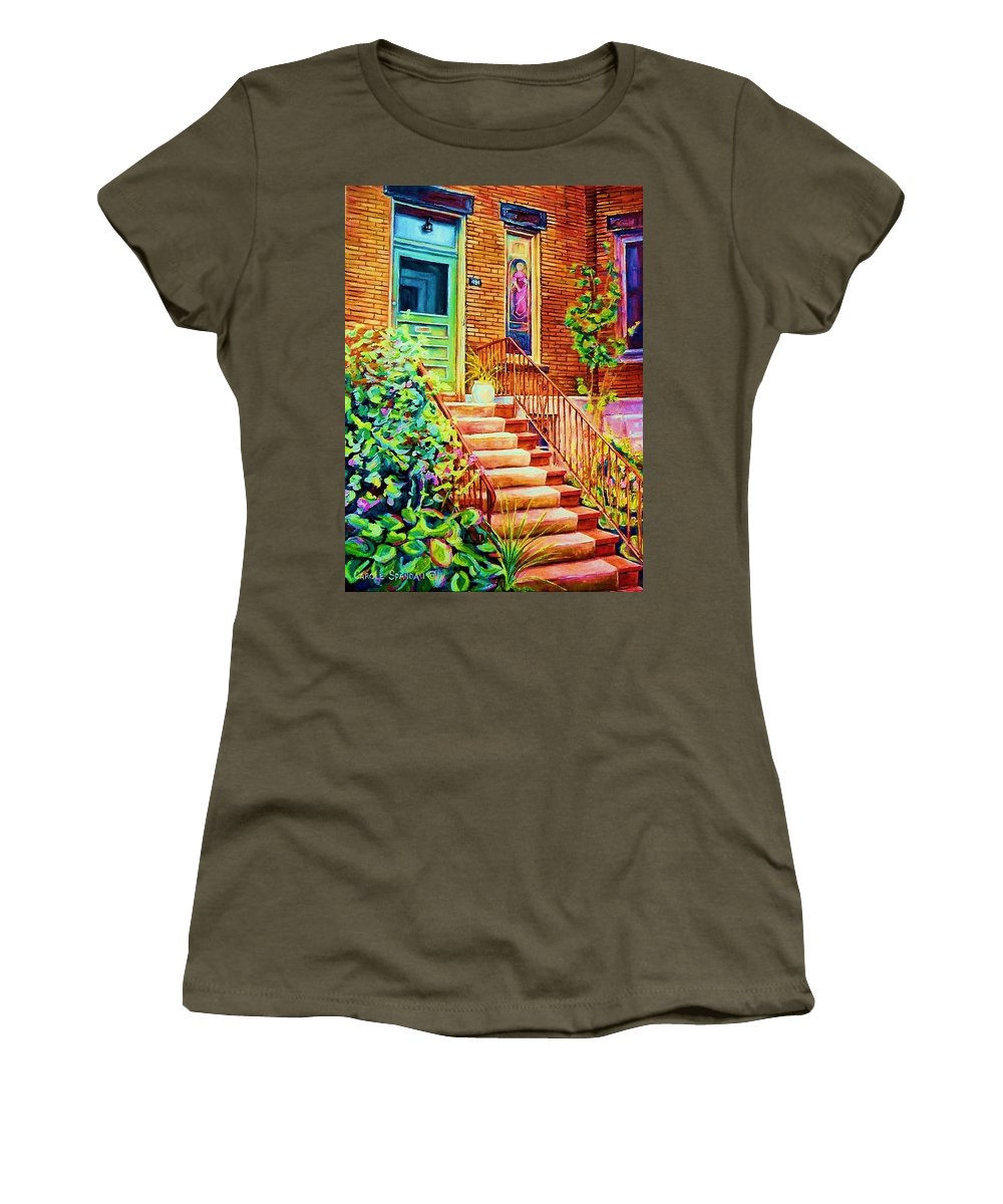 Westmount Home Women's T-Shirt featuring the painting Westmount Home by Carole Spandau