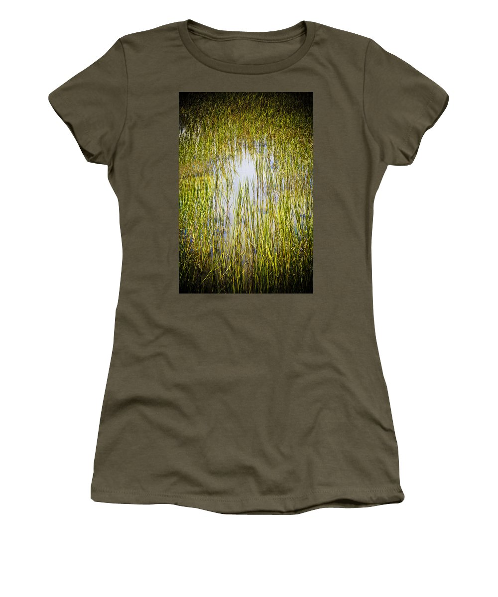 Wetlands Women's T-Shirt (Athletic Fit) featuring the photograph Wetlands by Marilyn Hunt