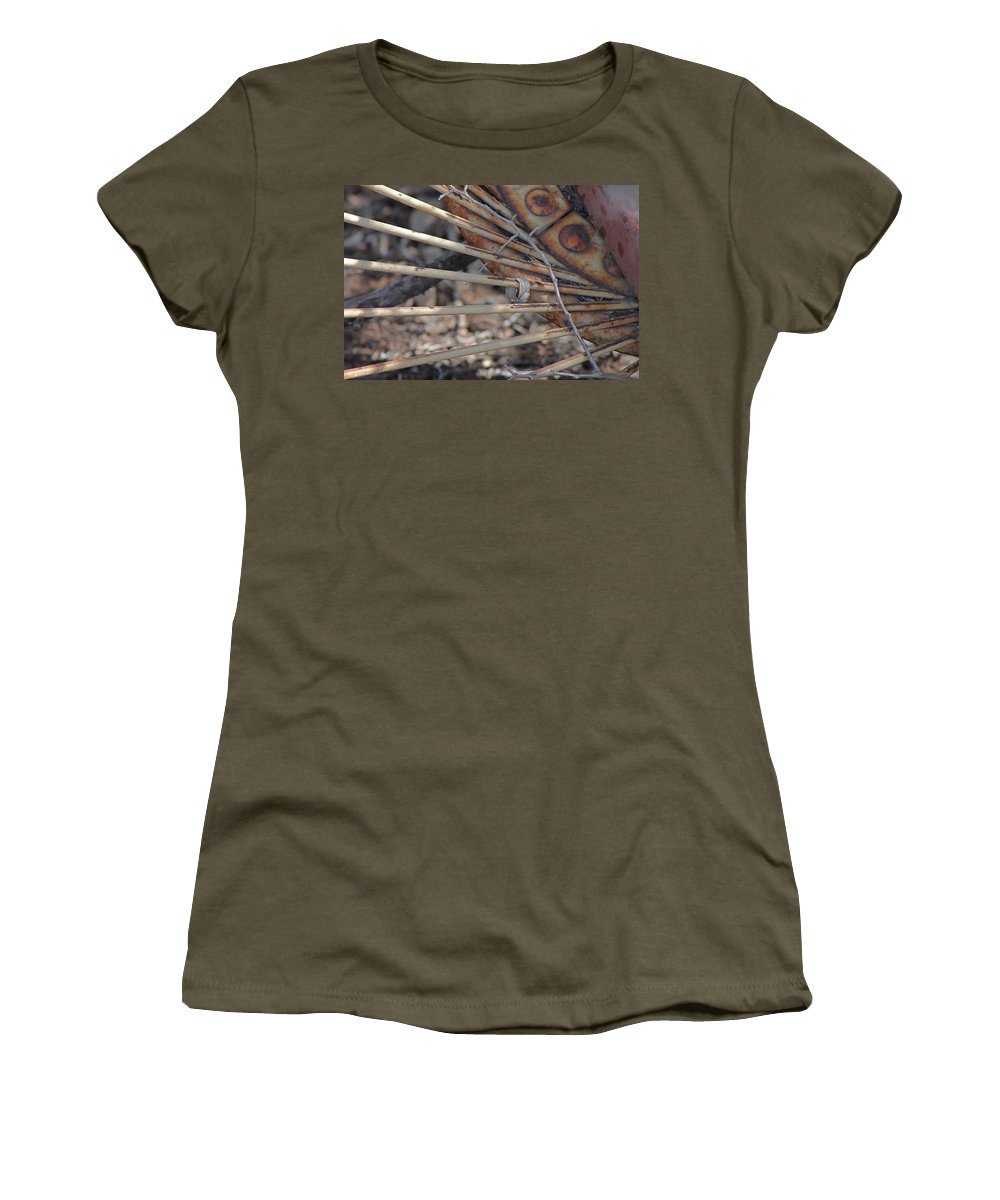 Agriculture Women's T-Shirt featuring the photograph Wheel Rake Spokes by Wayne Williams