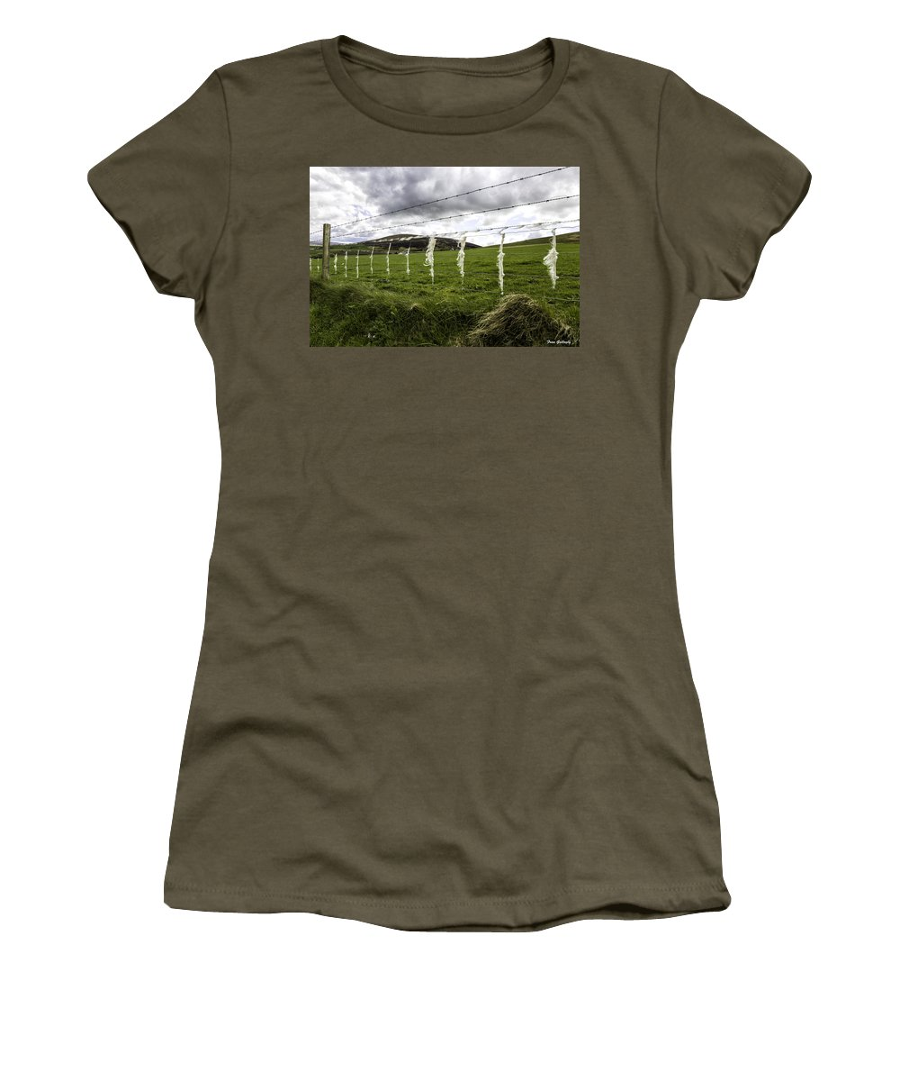 Sheep Women's T-Shirt featuring the photograph Where Are The Sheep? by Fran Gallogly
