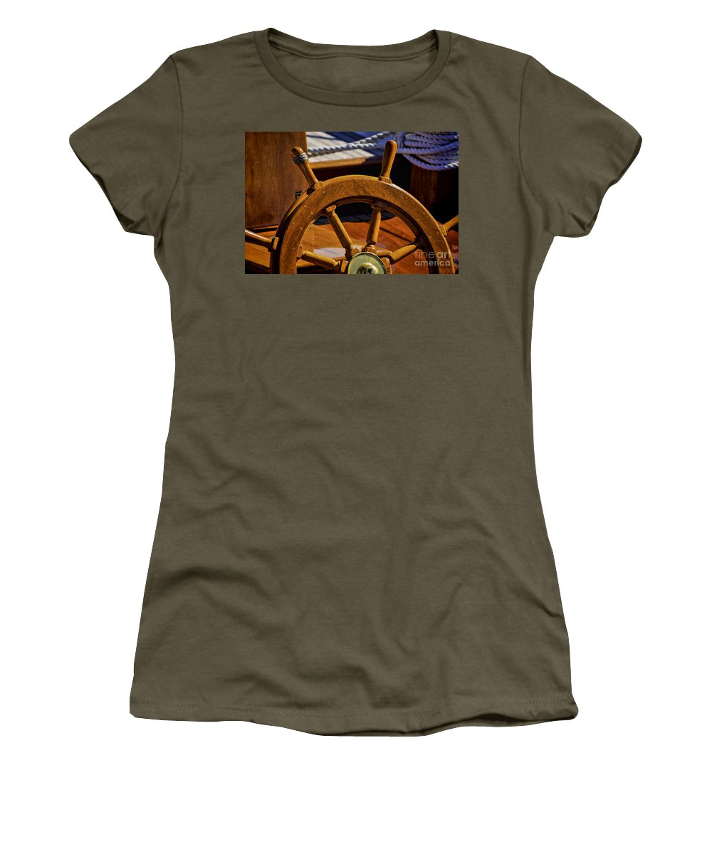 Abstract Women's T-Shirt (Athletic Fit) featuring the photograph Where Would You Go? by Joe Geraci