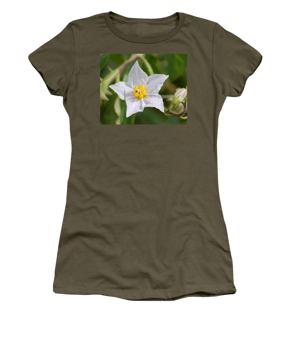Digital Photo Women's T-Shirt (Athletic Fit) featuring the photograph White Star by David Lane