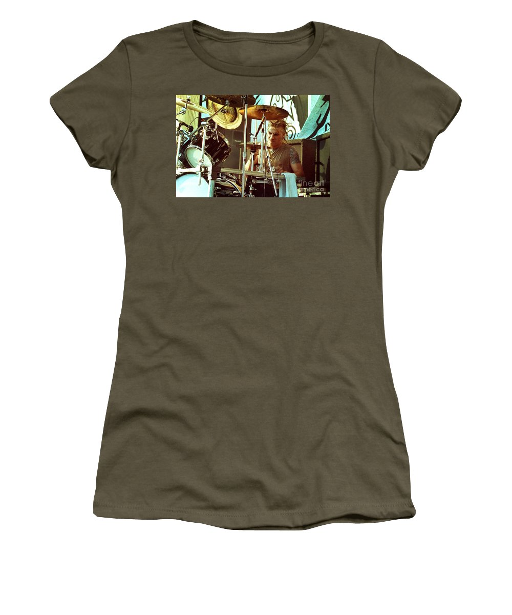 White Zombie Women's T-Shirt featuring the photograph White Zombie 93-phil-0357 by Timothy Bischoff