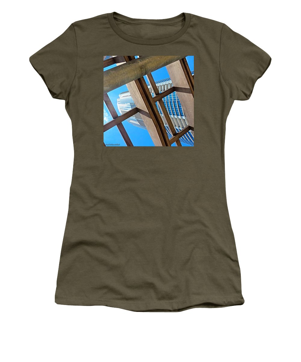 Urban Women's T-Shirt featuring the photograph #whplowaltitude, A #view Of A by Austin Tuxedo Cat