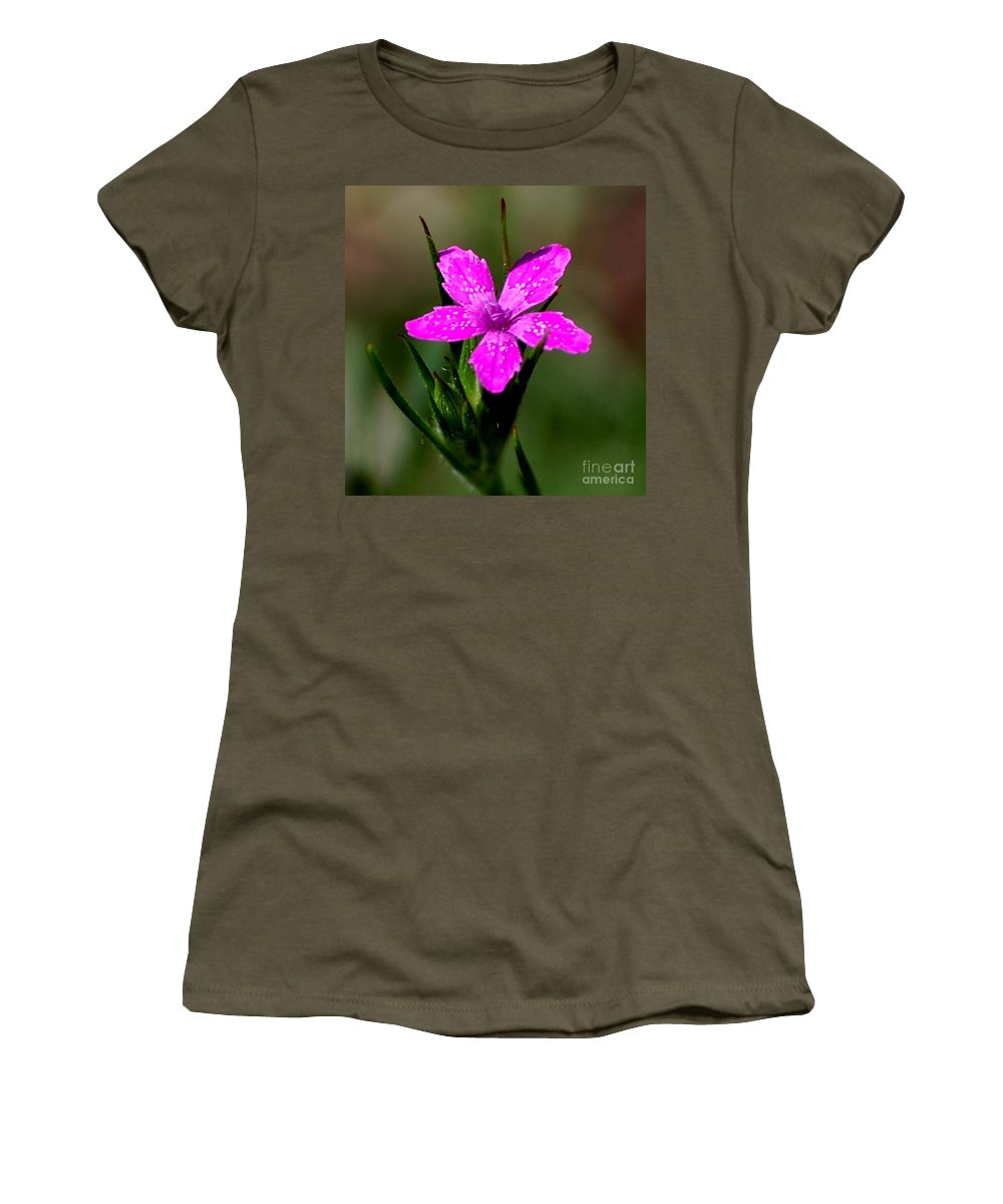 Digital Photo Women's T-Shirt (Athletic Fit) featuring the photograph Wild Pink by David Lane