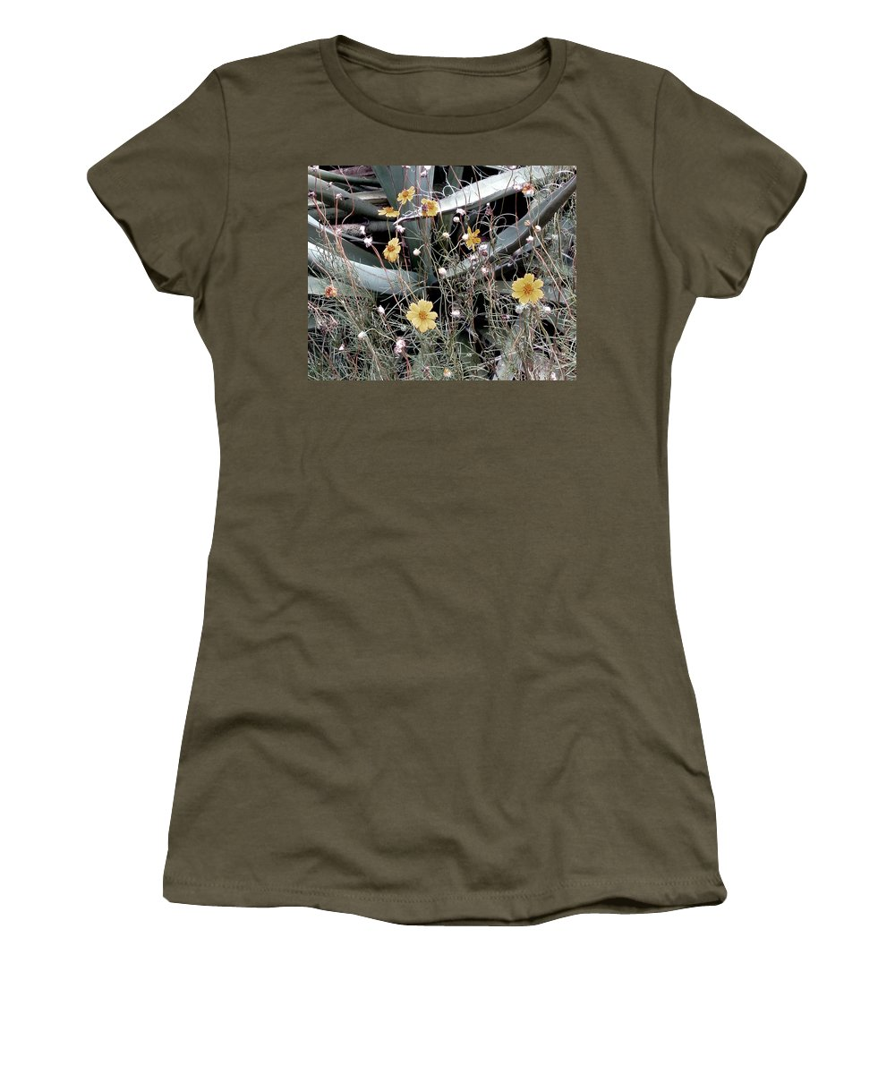 Photography Women's T-Shirt featuring the photograph Wildflowers by Wayne Potrafka