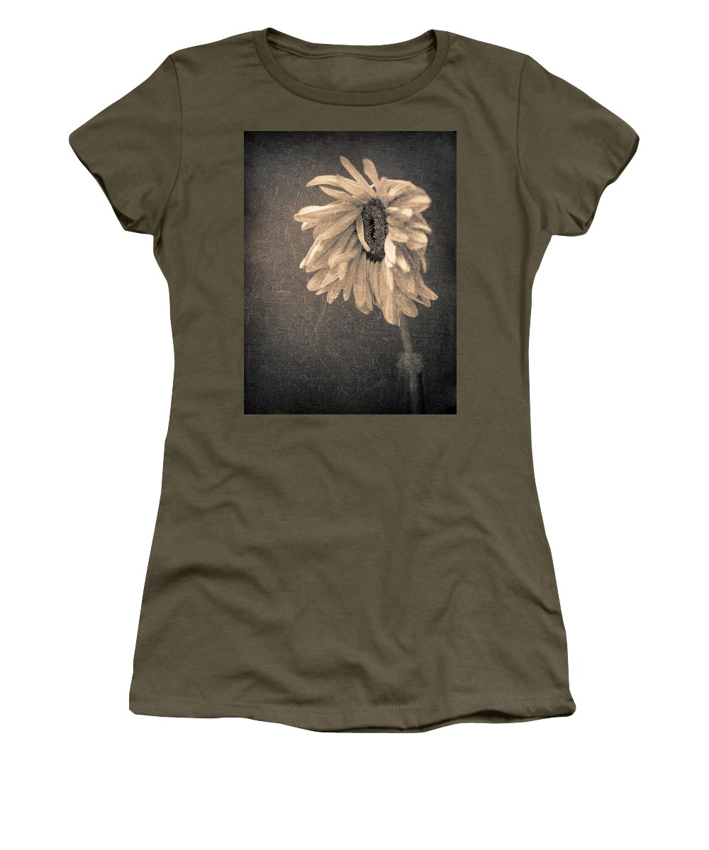 Flower Women's T-Shirt featuring the photograph Wilting In Colour by Tara Turner