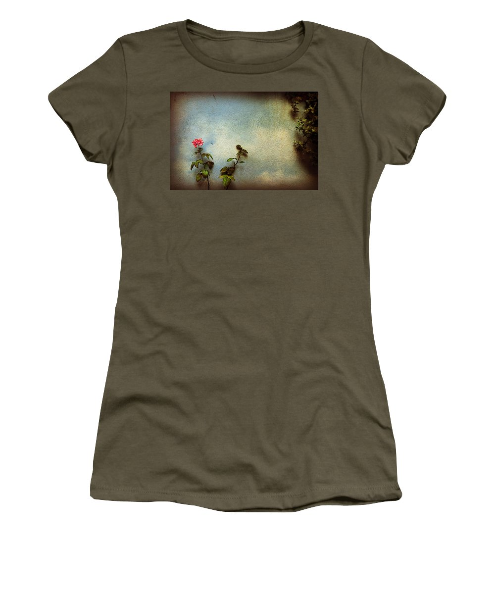Rose Women's T-Shirt featuring the photograph Wilting Rose by Silvia Ganora