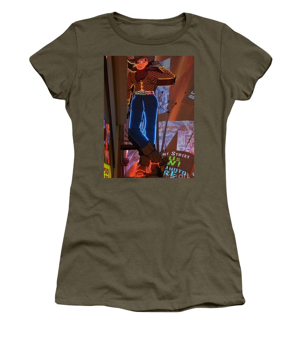 Los Vegas Women's T-Shirt featuring the photograph Winking Cowboy by Amanda Kessel