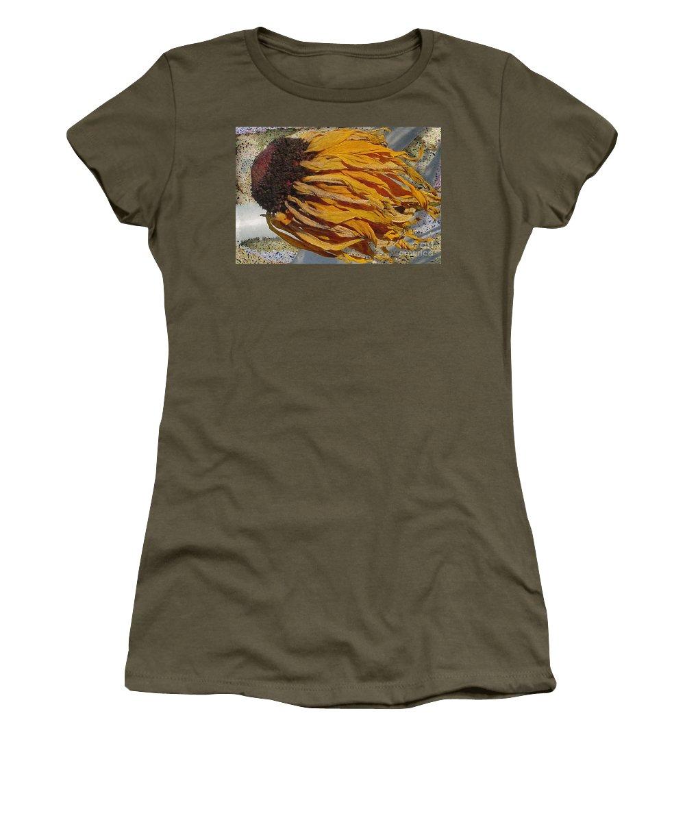 Digital Art Women's T-Shirt featuring the digital art Winter Flower by Ron Bissett