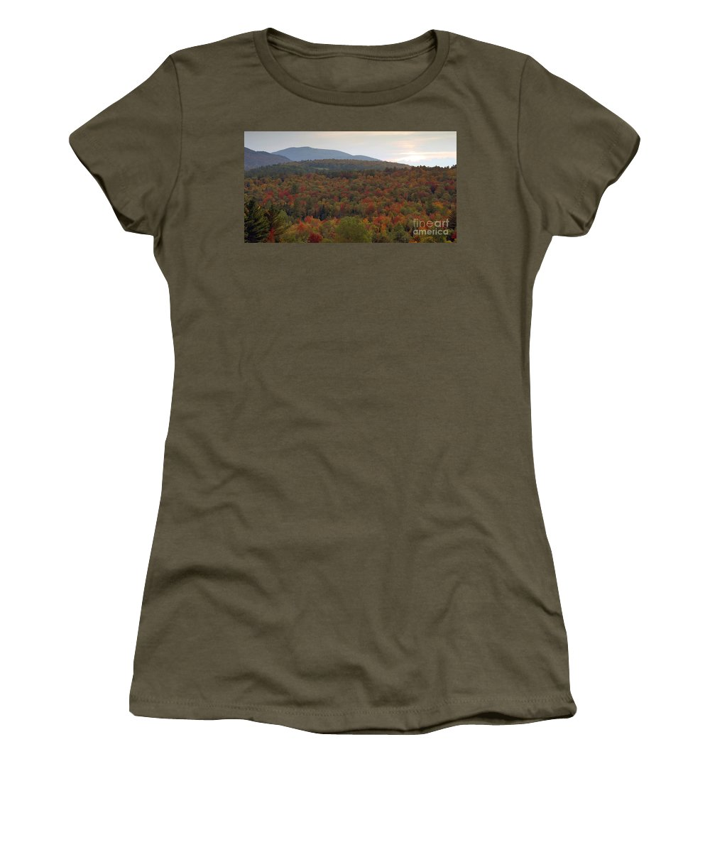 Fall Women's T-Shirt (Athletic Fit) featuring the photograph Winters Approach by David Lee Thompson