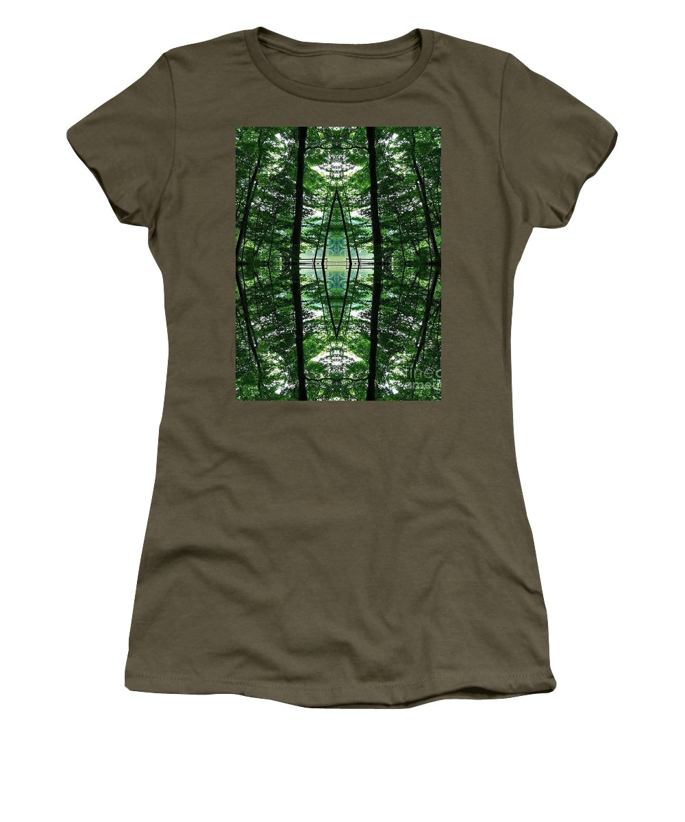 Mirror Effect Women's T-Shirt featuring the photograph Within Another Dimension by Amanda Kessel