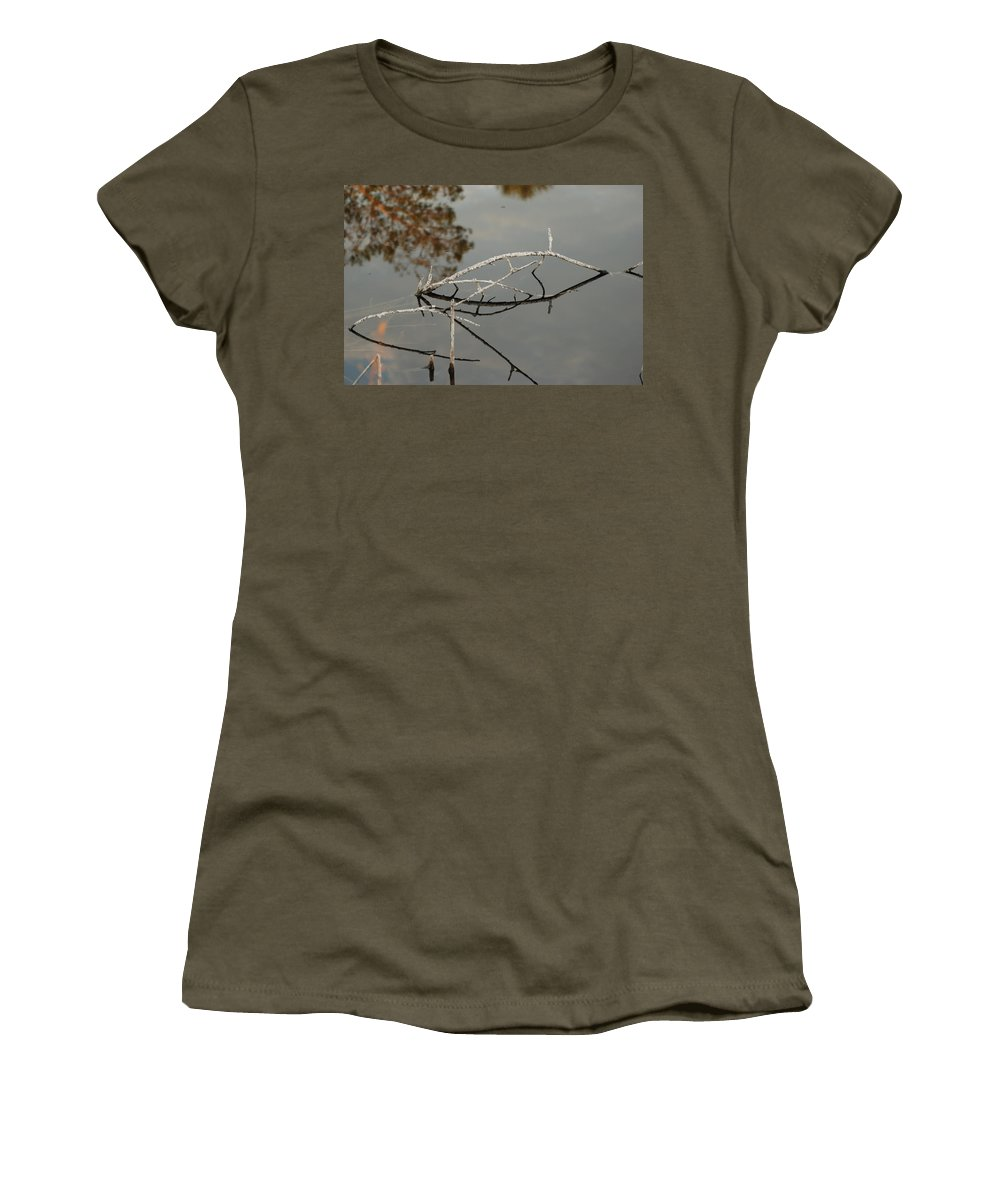 Pink Women's T-Shirt featuring the photograph Wooden Bridge In Color by Rob Hans