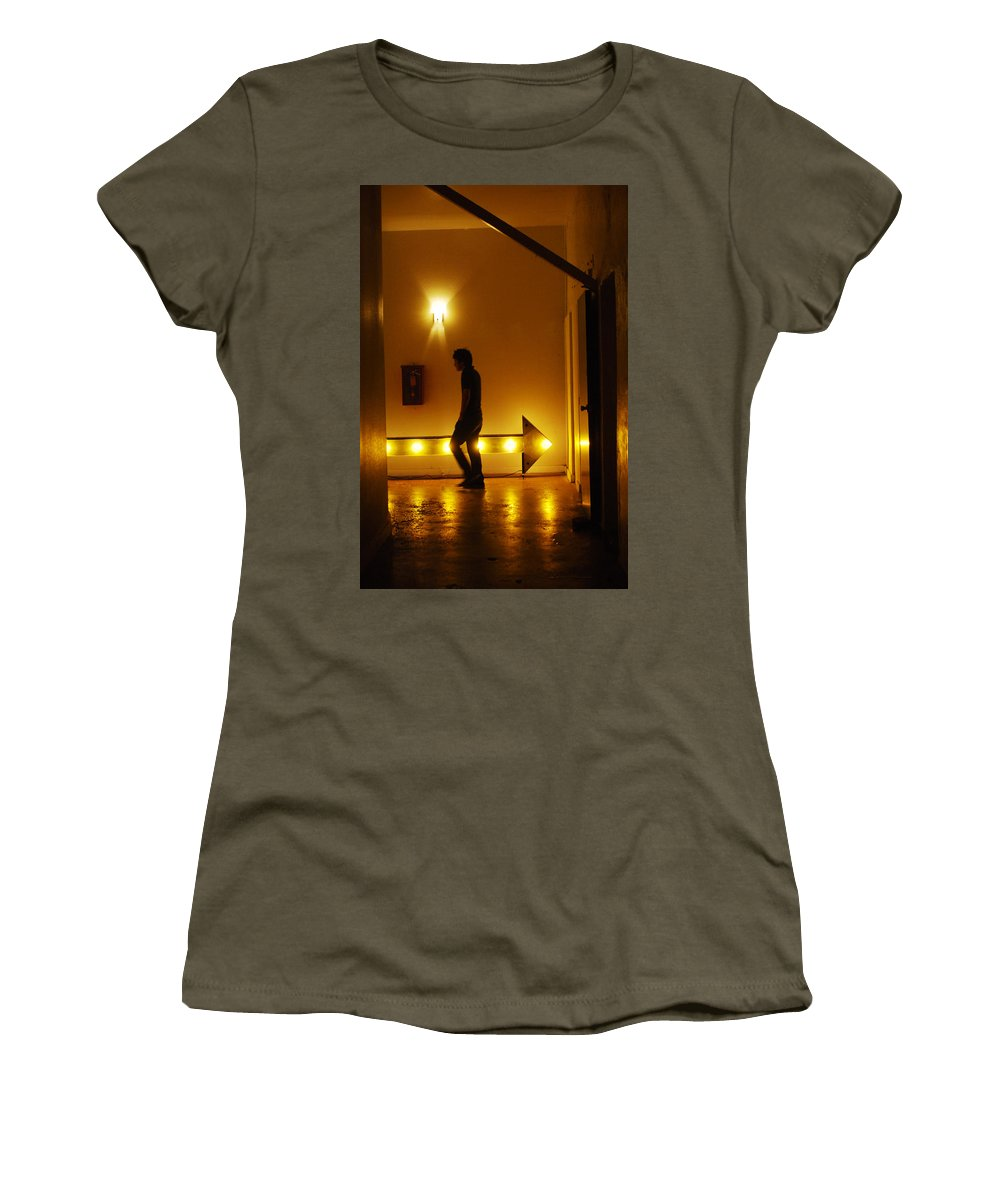Urban Women's T-Shirt (Athletic Fit) featuring the photograph Wrong Way by Jill Reger
