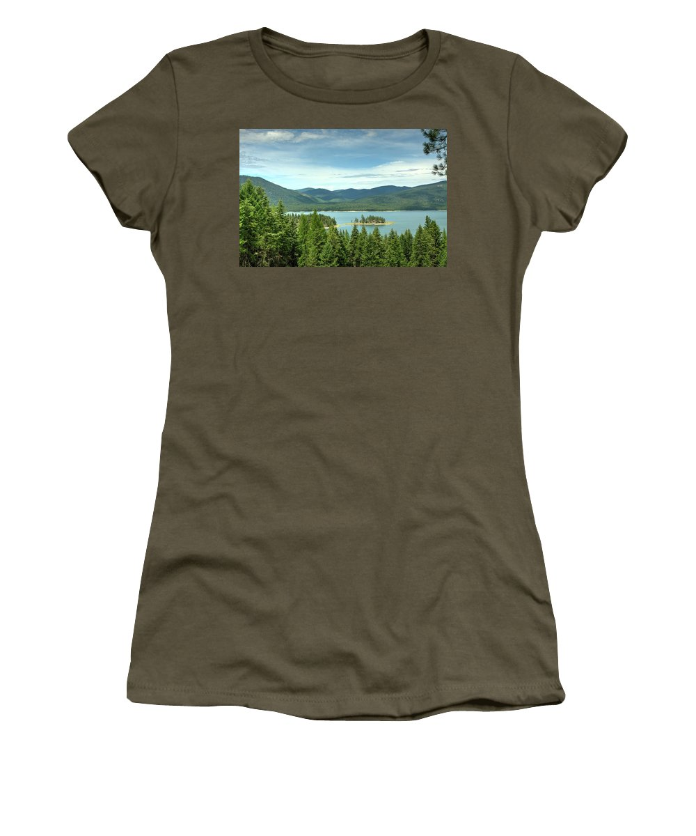 Landscape Women's T-Shirt featuring the photograph Yarnell Islands by Constance Puttkemery