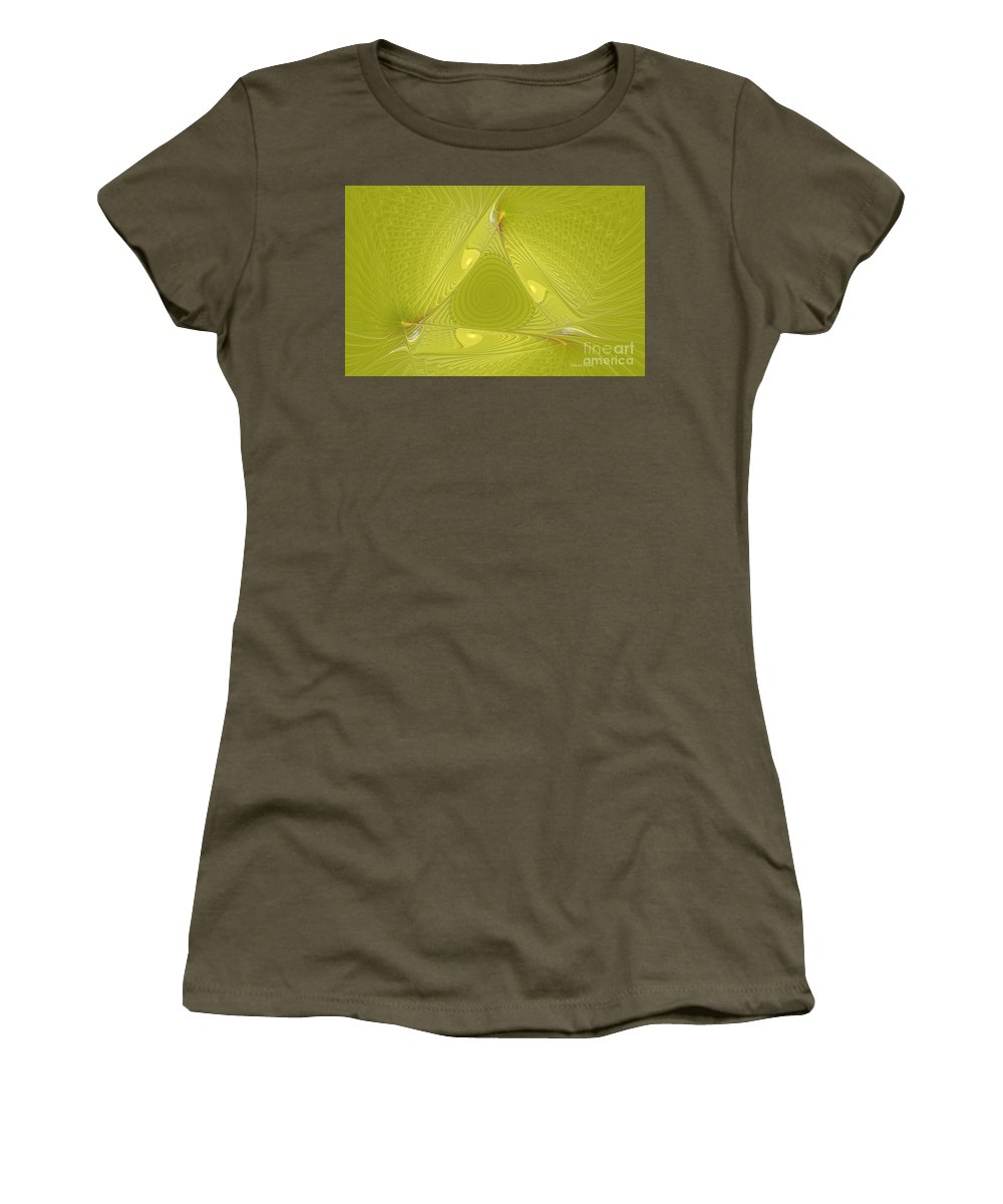 Fractal Women's T-Shirt (Athletic Fit) featuring the photograph Yellow Anyone by Deborah Benoit