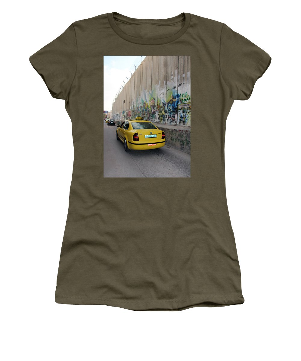Yellow Cab Women's T-Shirt (Athletic Fit) featuring the photograph Yellow Cab by Munir Alawi