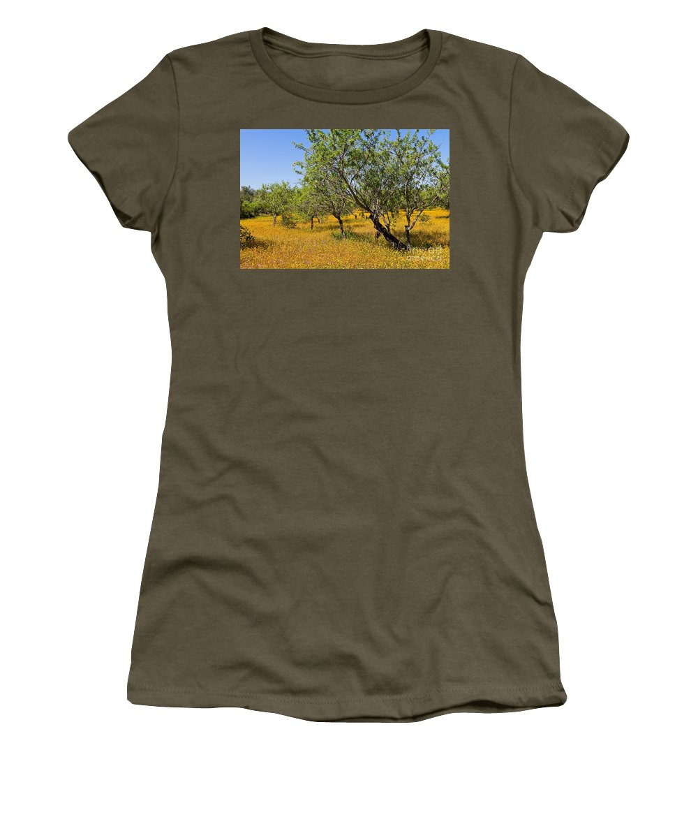 Olive Women's T-Shirt featuring the photograph Yellow Carpet by Louise Heusinkveld