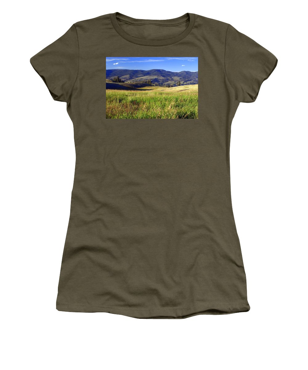 Yellowstone National Park Women's T-Shirt featuring the photograph Yellowstone Landscape 3 by Marty Koch