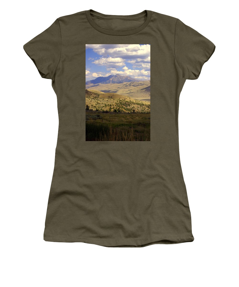 Yellowstone National Park Women's T-Shirt featuring the photograph Yellowstone View by Marty Koch